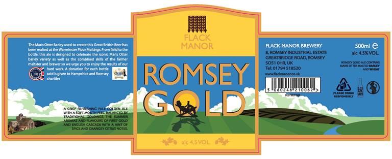 New Romsey Gold label