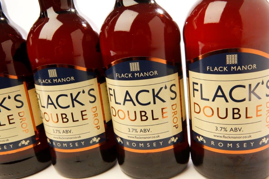 Flack's double drop bottles