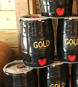 Flack's Gold 5-litre mini keg